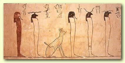 Tuthosis III Tomb, Fantastic Representations of Cats