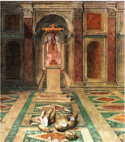 Tommaso_Laureti_Triumph_of_Christianity cat in history, history of the cat