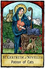 St Gertrude of Nivelles, Patron of cats, cats and saints