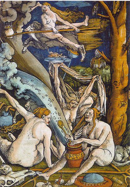 Hexen Hans Baldung Grien Wood cut 1508