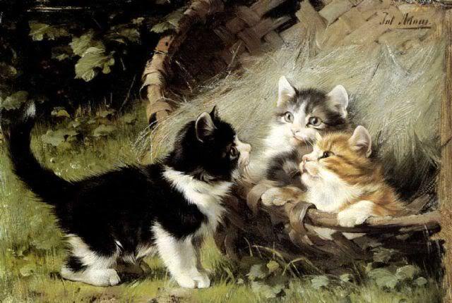 Kittens Julius Adam II kittens in art