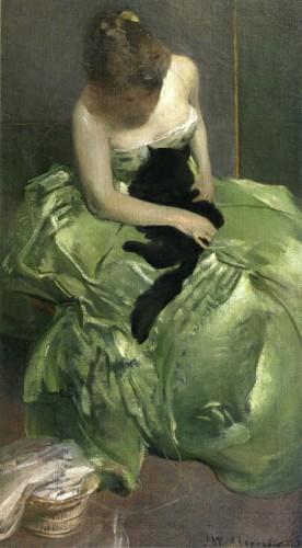 John White Alexander The Green Dress