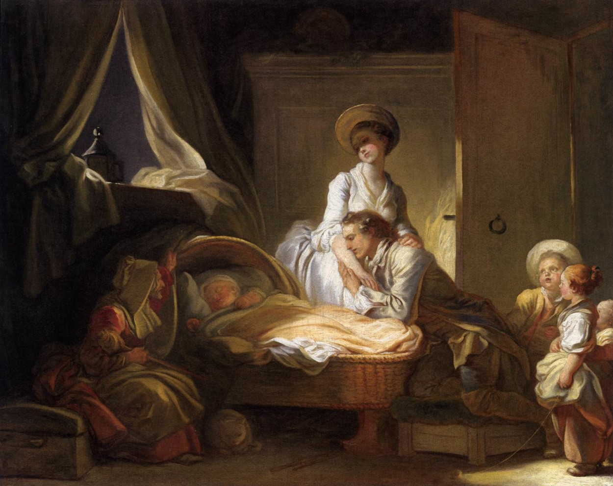 A Visit to the Nursery Jean Honoré Fragonard Oil on Canvas 1775 National Gallery of Art, Washington, DC