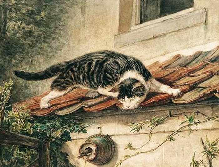 Stalking a Bird Henriette Ronner-Knip Private Collection