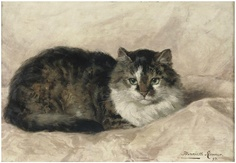 At Peace Henriette Ronner-Knip Private Collection