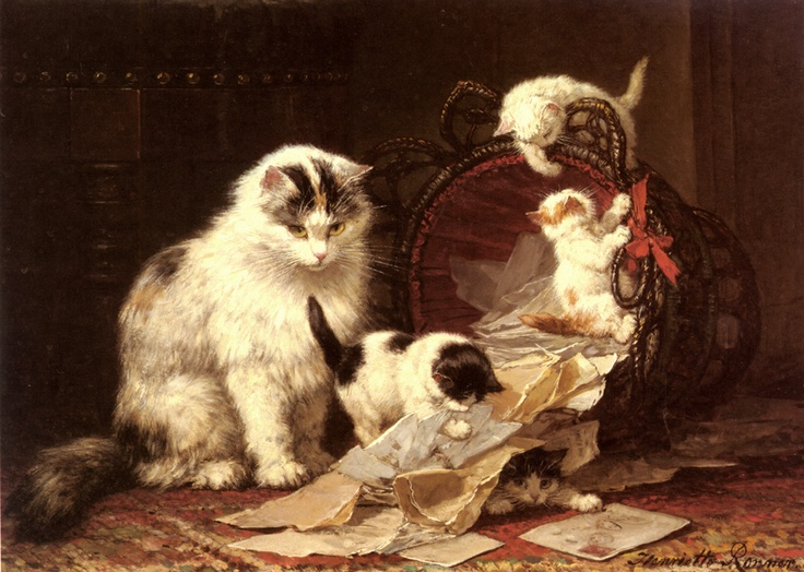 De Snippermand Henriette Ronner-Knip Oil on Panel Private Collection