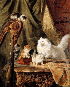 On the Harp Henriette Ronner-Knip Private Collection
