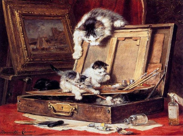 Playing with Paints Henriette Ronner-Knip Private Collection