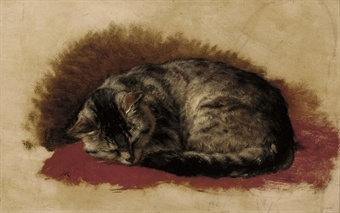 Sweet Dreams Henriette Ronner-Knip Oil on paper laid on panel