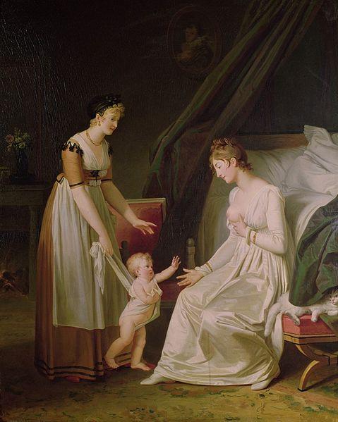 Marguerite-Gérard The Breastfeeding Mother, 18th Century Oil on canvas Musée Fragonard, Grasse, France