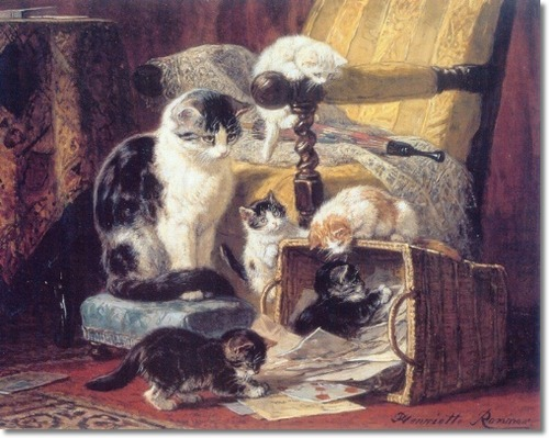 A Basket Full of Mischief Henriette Ronner-Knip Private Collection