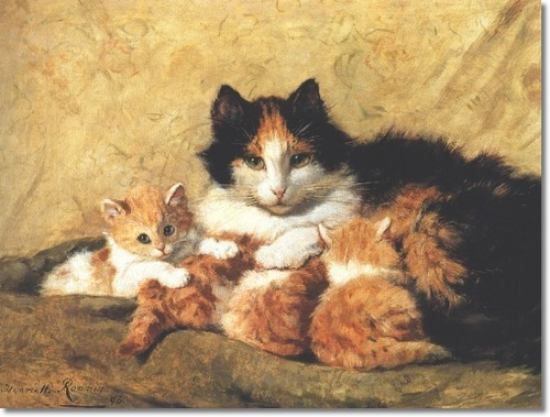 Proud Mother and Kittens Henriette Ronner-Knip Private Collection