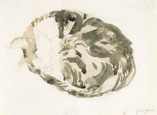 Study of Sleeping Cat Gwen John