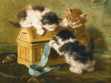 Three Kittens Henriette Ronner-Knip 1894 Private collection