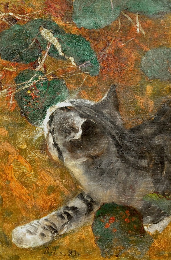 Jeppe the Cat Bruno Liljefors 1889 Private Collection- wildlife paintings