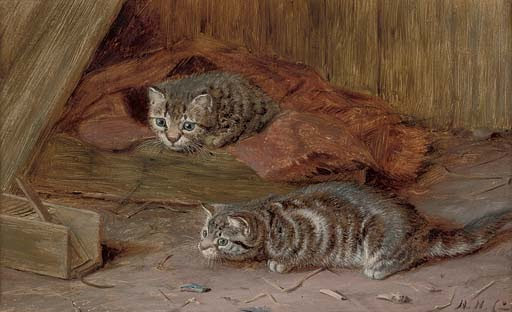 A Fascinating Tail Horatio Henry Couldery Private Collection cats in art