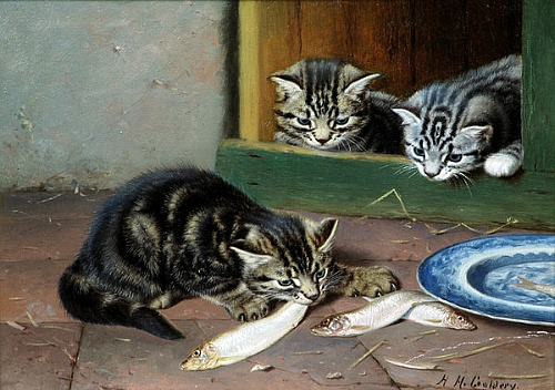 Mealtime Horatio Henry Couldrey Private Collection
