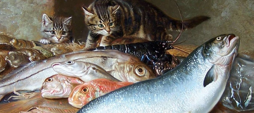 Cat and Fish Horatio Henry Couldery Private Collection