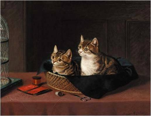 The Kittens' Bed Horatio Henry Couldery Private Collection