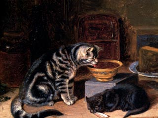 Two Cats Horatio Henry Couldery Private Collection