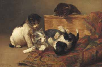 Playing Kittens John Henry Dolph Private Collection