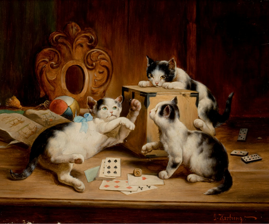 kittens in paintings