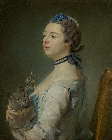 Magdaleine Pinceloupe de la Grange Jean Baptiste Perronneau Private Collection, Perronneau, Crespi, Desportes