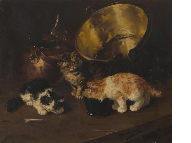 Kittens in the Kitchen kittens in art