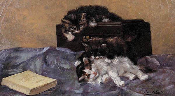 Three Kittens and a Book Brunel de Neuville