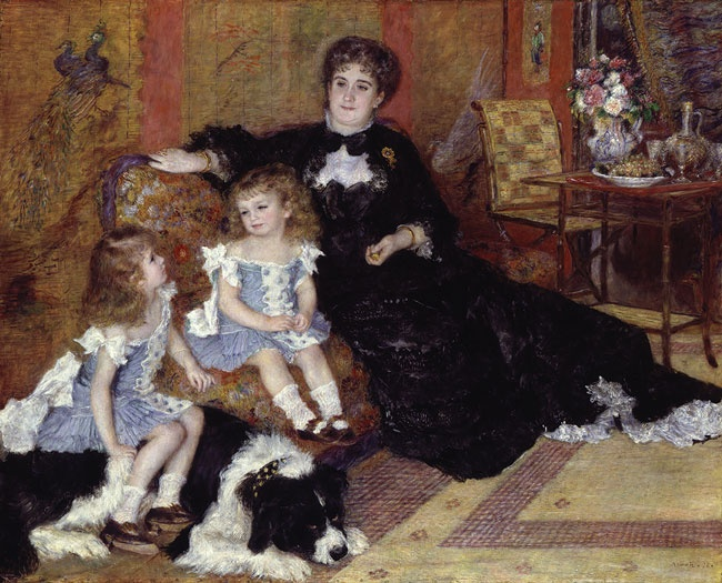 Mme Georges Charpentier and Her Children 1878 Metropolitan Museum cats in art