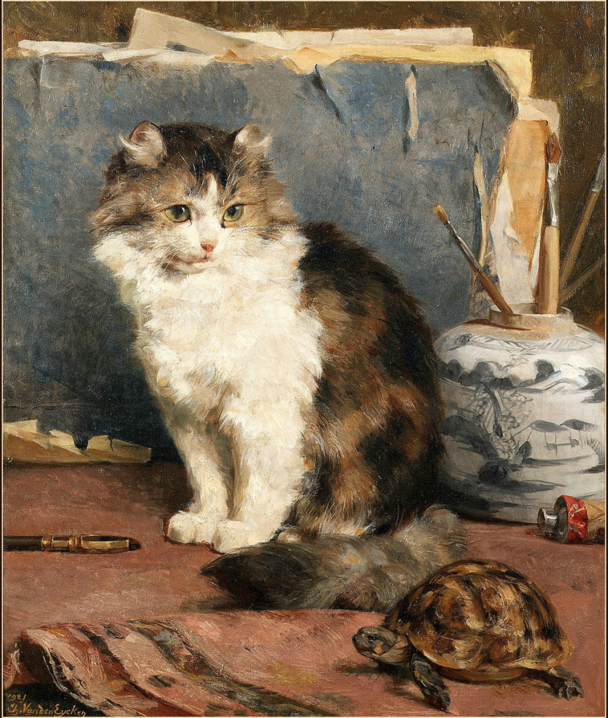 Cat and Turtle Private Collection cats in classic paintings
