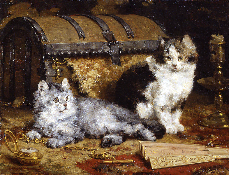 Cats at Play Private Collection