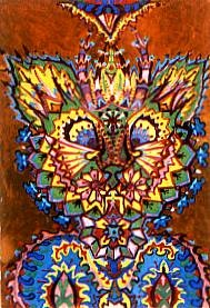 Cat 1933 Louis Wain cats in art