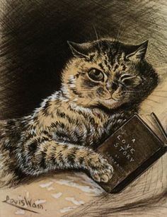 A Love Story Louis Wain cats in art