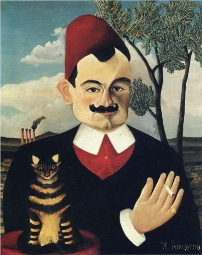 Portrait of Pierre Loti Henri Rousseau 1891 Kunsthaus, Zurich cats in art