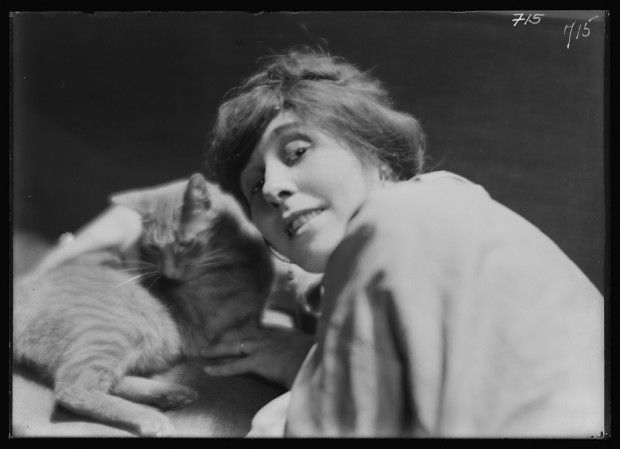 Unknown Woman with Buzzer the Cat 1910