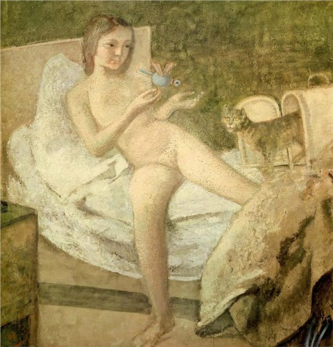 Le Lever (Getting Up) 1975-78 Balthus and Cats