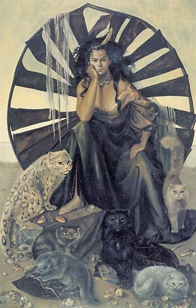 Leonor Fini La Vie Ideale (The Perfect Life) 1950 cats in art