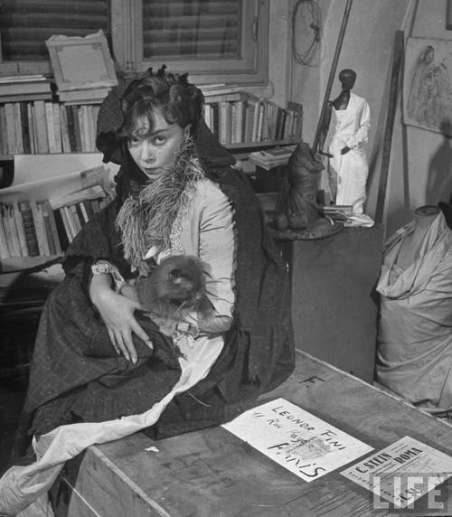 Leonor Fini and cat