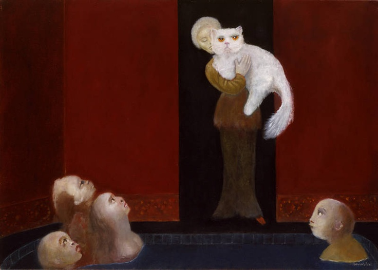 Leonor Fini Ex Voto 1994 cats in art