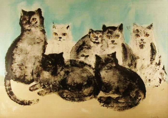 Leonor Fini Seven Cats
