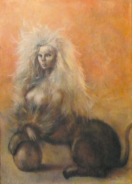 Leonor Fini Sphinx for David Barrett 1954