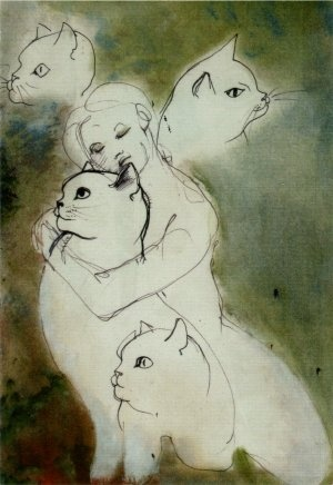 Leonor Fini Woman and Cats