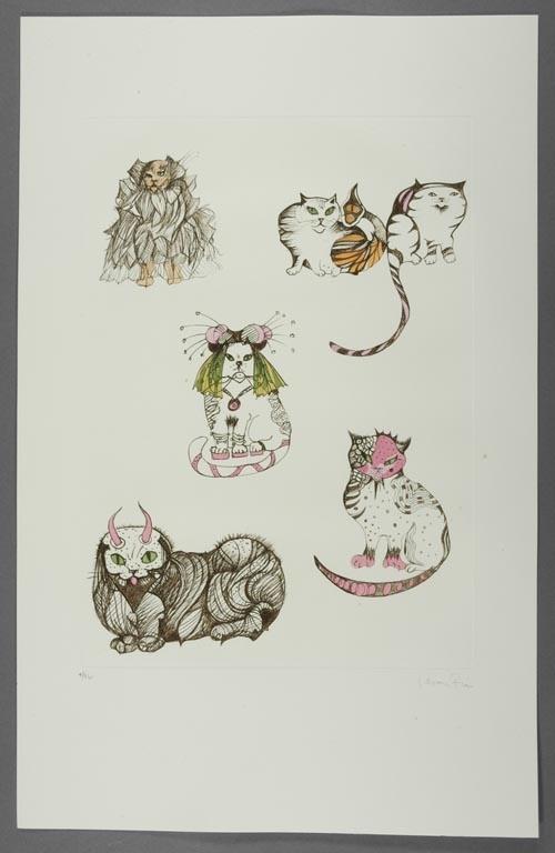 Les Chats de Madame Helvetius, by Leonor Fini,
