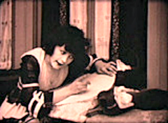 Marie Prevost and Pepper first cat star, felines in film