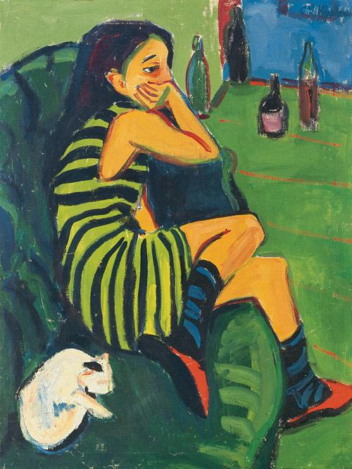 Kirchner, The Artist Marcella 1910 Brücke-Museum, Berlin