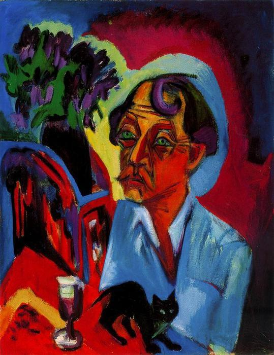 Kirchner, The Painter Stirner with a Cat