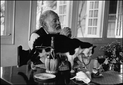 Hemingway and cat