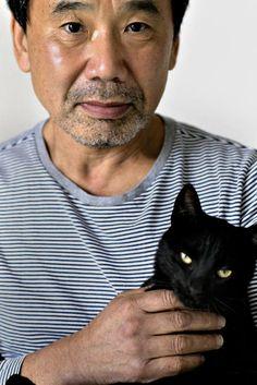 Haruki Murakami with cat, cats in japanese literature