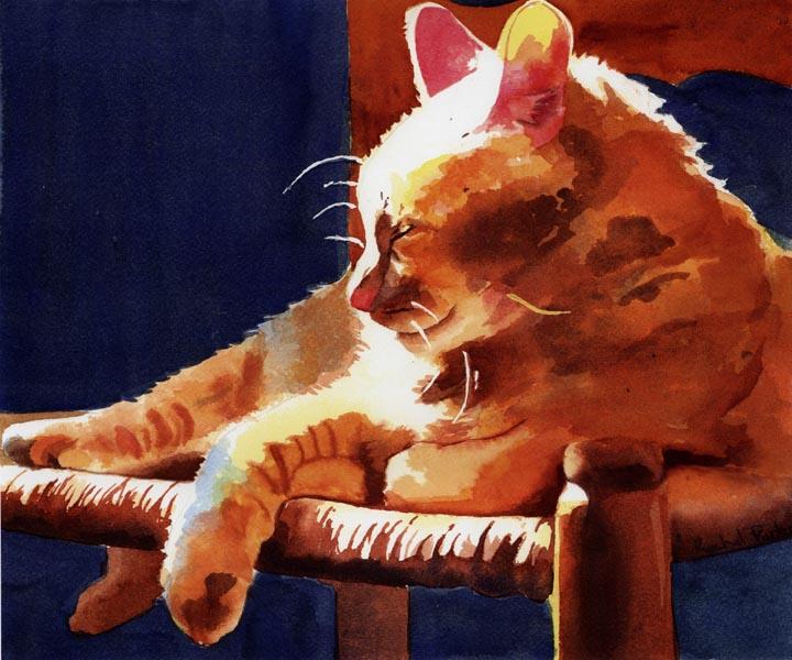 Hum Lit, Rachel Parker, cats in paintings